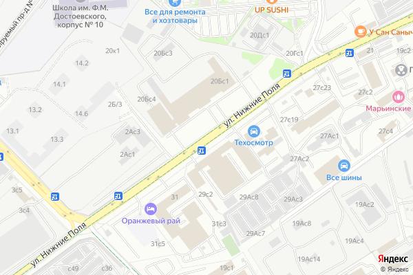 Ремонт телевизоров Улица Нижние Поля на яндекс карте
