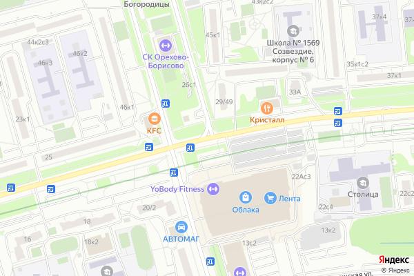 Ремонт телевизоров Ореховый бульвар на яндекс карте