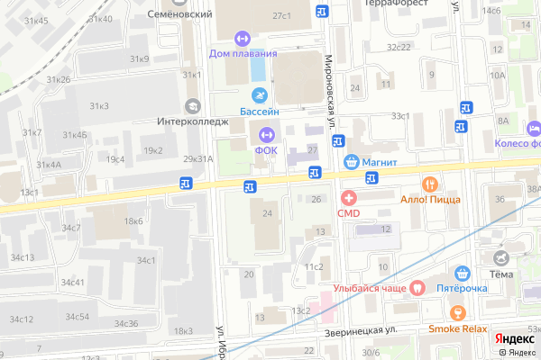 Ремонт телевизоров Улица Ткацкая на яндекс карте