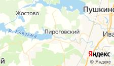 Гостиницы города Пирогово на карте