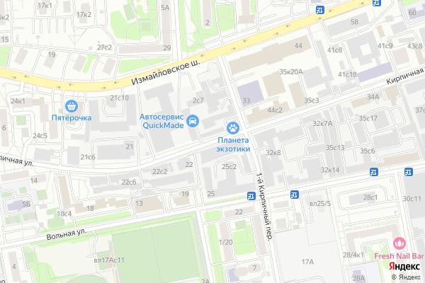 Ремонт телевизоров Улица Кирпичная на яндекс карте