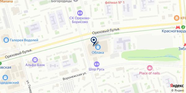 Джоконда на карте Москве
