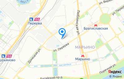 Местоположение на карте пункта техосмотра по адресу г Москва, ул Перерва, д 19 стр 2