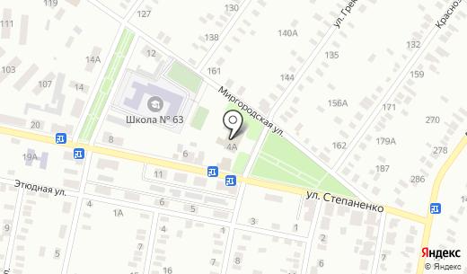 Клуб Семья. Схема проезда в Донецке