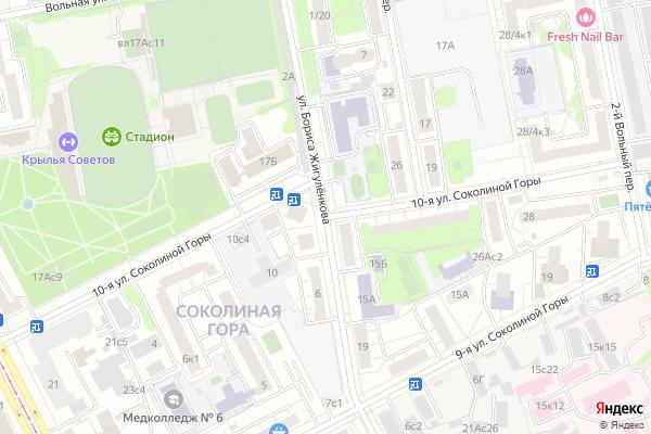 Ремонт телевизоров Улица 10 я Соколиной Горы на яндекс карте