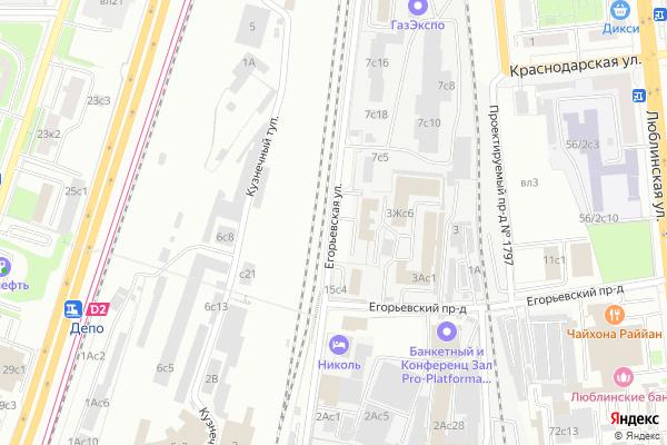 Ремонт телевизоров Улица Егорьевская на яндекс карте