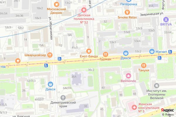 Ремонт телевизоров Улица Щербаковская на яндекс карте