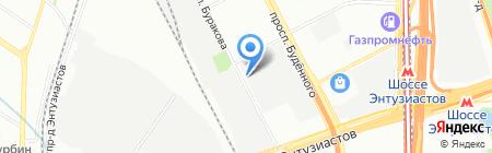 Граверка на карте Москвы