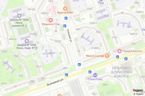 Ремонт телевизоров Улица Елецкая на яндекс карте