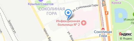 Фортис на карте Москвы