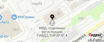 Мобильная страховка на карте Москвы