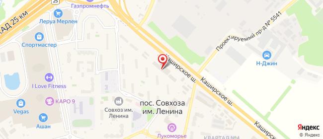 Карта расположения пункта доставки Совхоз им Ленина 23км Каширского шоссе в городе Совхоз имени Ленина