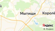 Гостиницы города Мытищи на карте