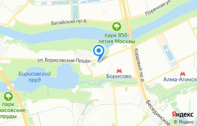 Местоположение на карте пункта техосмотра по адресу г Москва, ул Борисовские Пруды, д 8А