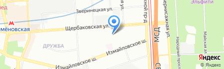 Соколиная гора на карте Москвы
