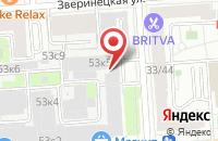 Схема проезда до компании Стройпрестиж в Москве