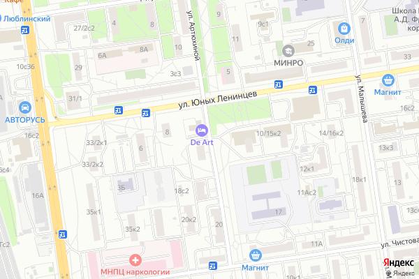 Ремонт телевизоров Улица Артюхиной на яндекс карте