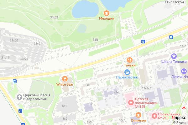 Ремонт телевизоров Улица Борисовские Пруды на яндекс карте
