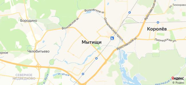Гостиницы Мытищ - объекты на карте