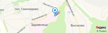 Туберкулезная больница №6 на карте Свиноедово