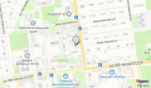 Кнопочка. Схема проезда в Донецке