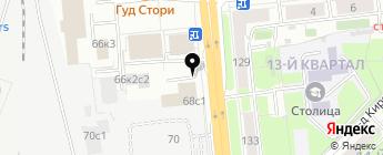 Росснива на карте Москвы