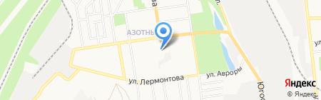 ДайнавА на карте Донецка