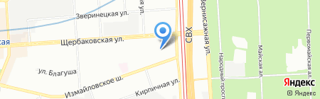 Портняжка на карте Москвы
