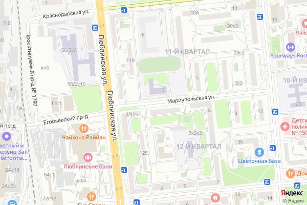 Ремонт телевизоров Улица Мариупольская на яндекс карте