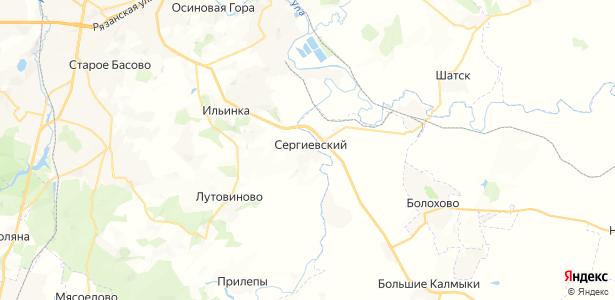 Сергиевский на карте