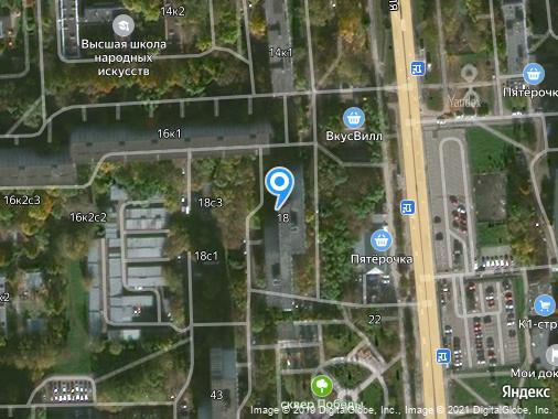 Сдаем 1-комнатную квартиру, 42 м², Москва, улица Мусы Джалиля, 18