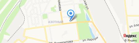 Цілюща на карте Донецка
