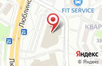Схема проезда до компании Тотал Продакшн в Москве