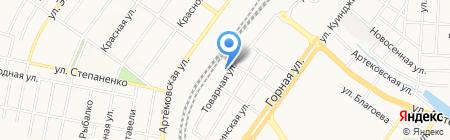 Урожайная грядка на карте Донецка