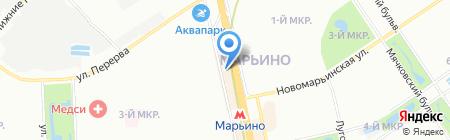 Питон 7 на карте Москвы