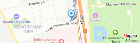 Бифа на карте Москвы