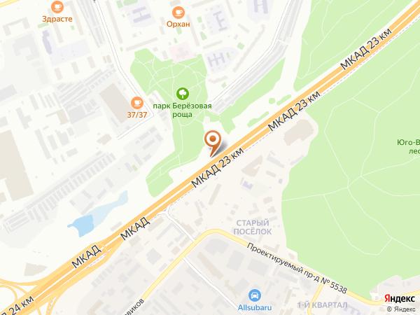 Остановка «23-й км.», 23-й километр Московской Кольцевой Автодороги (7822) (Москва)