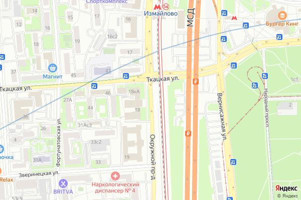 Ремонт телевизоров Окружной проезд на яндекс карте