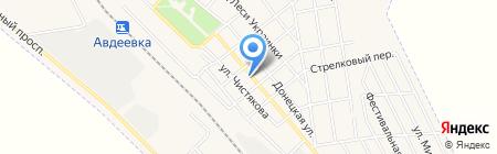 Киоск по продаже фастфудной продукции на карте Авдеевки