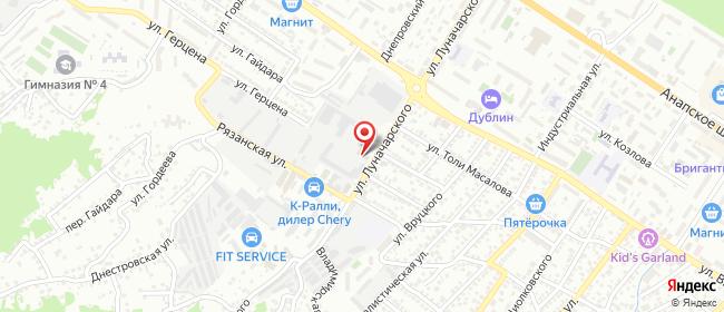 Карта расположения пункта доставки DPD Pickup в городе Новороссийск
