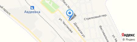 Киоск по продаже хлебобулочной продукции на карте Авдеевки