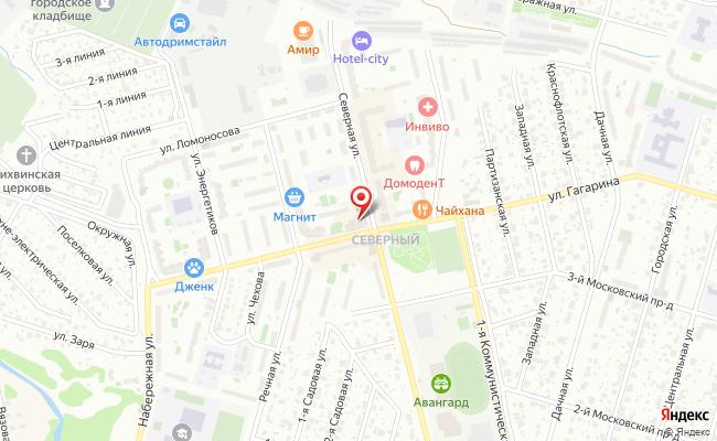 Карта расположения пункта доставки Пункт выдачи в городе Домодедово