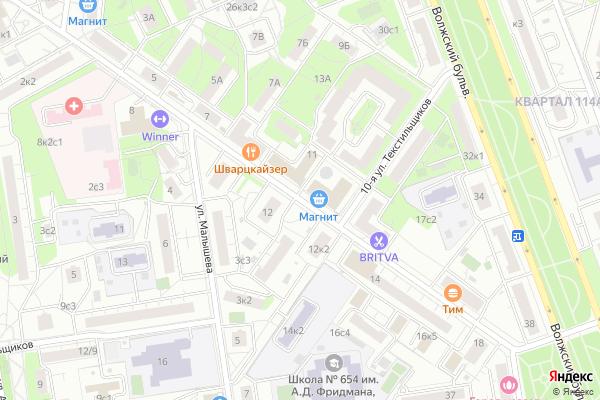 Ремонт телевизоров Улица 8 я Текстильщиков на яндекс карте
