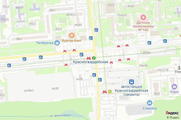 Ремонт телевизоров Метро Красногвардейская на яндекс карте