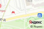 Схема проезда до компании Салон цветов на Борисовских Прудах в Москве