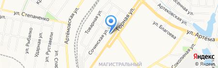 Старый город на карте Донецка