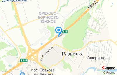 Местоположение на карте пункта техосмотра по адресу Московская обл, г Видное, п Развилка, км МКАД 23
