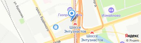Этуаль Флора на карте Москвы