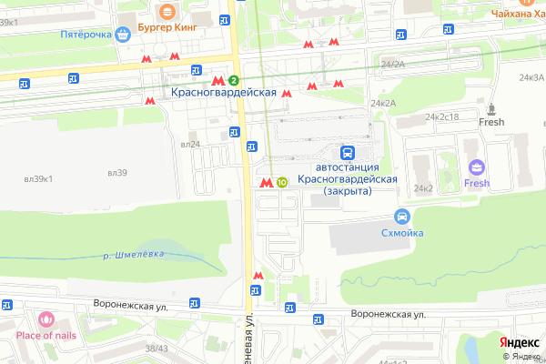 Ремонт телевизоров Метро Зябликово на яндекс карте