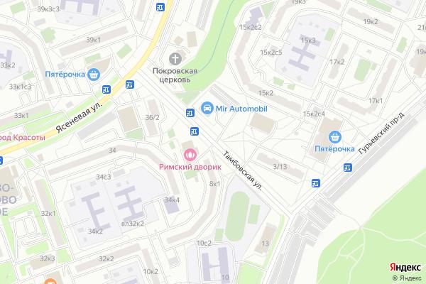 Ремонт телевизоров Улица Тамбовская на яндекс карте